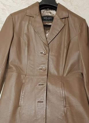 Кожаный плащ  milan leather