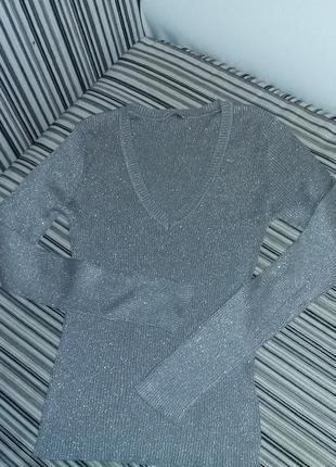 Серебристый свитерок pimkie!