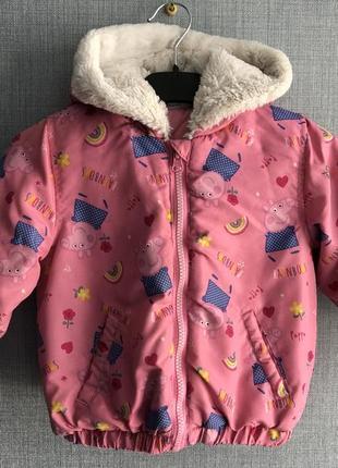 Милая курточка с пепой для девочки 2-3 года