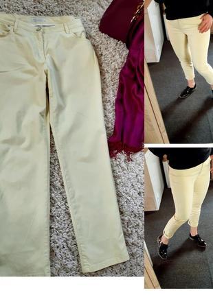 Актуальные светлые катоновые брюки, жёлтые,  brax, p. 12-14