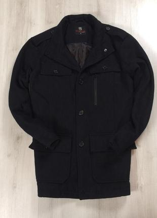 F9 пальто burton черное ветровка шерстяное шерсть овечья