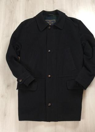 F9 пальто marks&spencer черное 50%wool полушерстяное овечья мужское