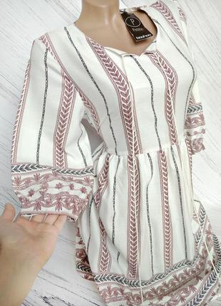 """Шикарное платье """"вышиванка"""" от boohoo size 12"""