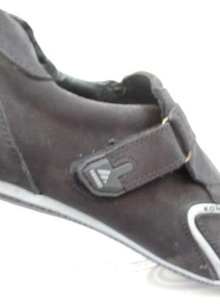 Кроссовки на липучке кожа