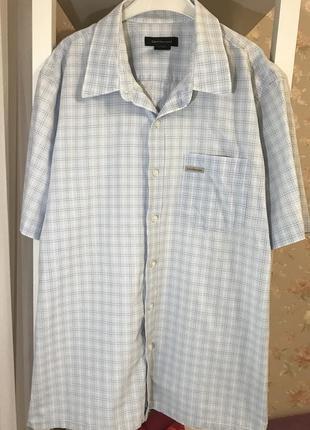 Мужская рубашка с коротким рукавом calvin klein