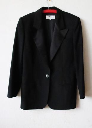 Шерстяной пиджак mani с атласными лацканами 100% шерсть италия