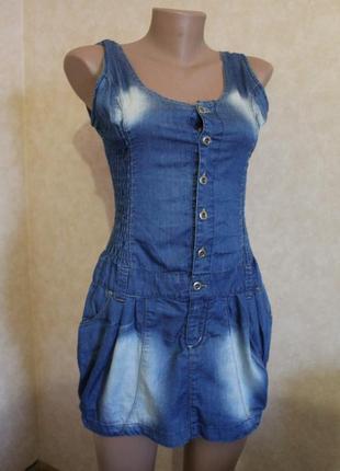 Джинсовый сарафанчик, платье