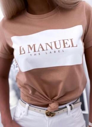 Стильная женская х/б футболка