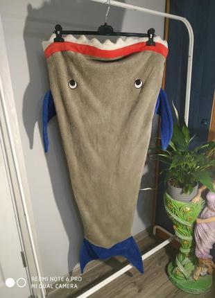 Плед,спальний мішок, 🦈 акула
