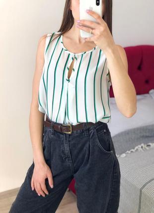 Шифоновый топ блуза в полоску