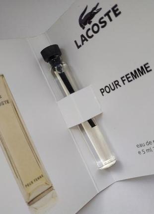 Очень стойкий мини-парфюм lacoste pour femme