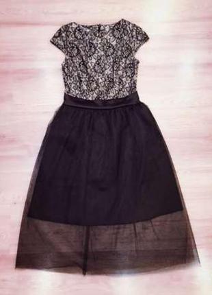 Платье коктейльное вечернее фатин xs, s