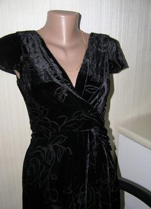 Шикарное бархатное / шёлковое платье с запахом laura ashley (вискоза, шелк) в стиле d&g