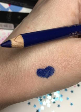 Карандаш для глаз kiko colour kajal 💙 синий