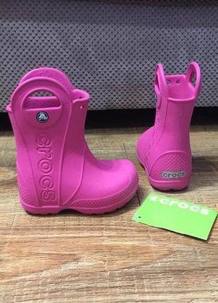 Резиновые сапоги сапожки черевики крокс crocs (оригинал) с-6 ( 13.5см)