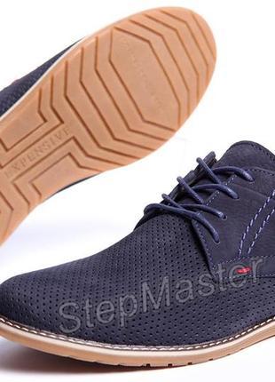 Туфли мужские clarks sheridan - натуральный нубук с перфорацией