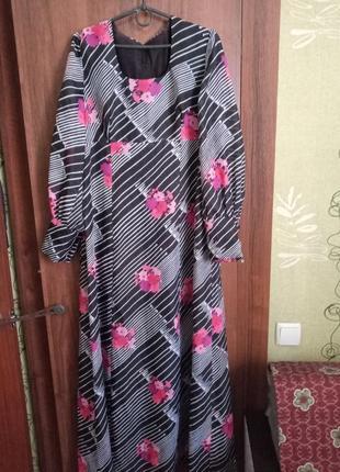Ретро платье в пол