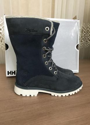 Ботинки helly hansen с мехом синие зимние сапоги