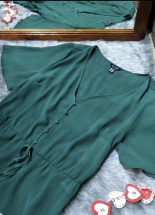 New look лёгкая полупрозрачная блузка рубашка разлетайка блуза