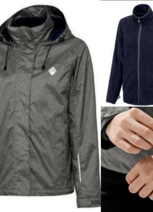 Крутая всепогодная куртка crivit 3 в 1 ветровка флиска