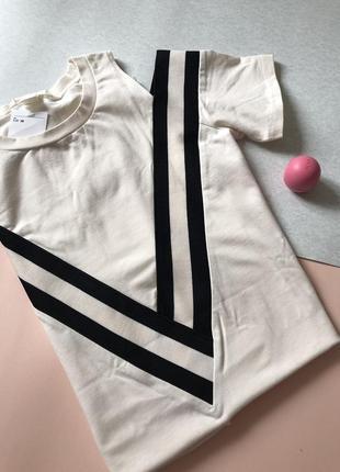 H&m новое платье хлопок белое ежедневное s m 36