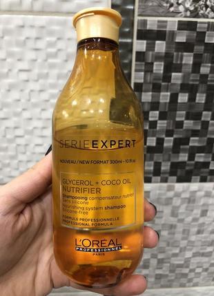 Шампунь для волос l'oreal nutrifier для сухих волос без силиконов