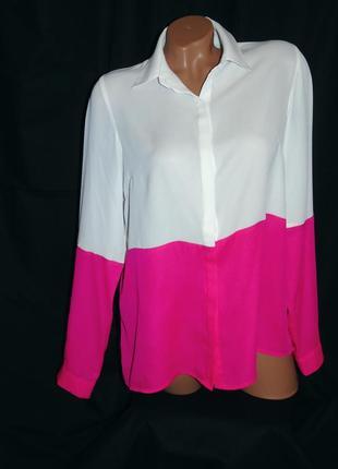 Шикарная двухцветная блуза - m - l