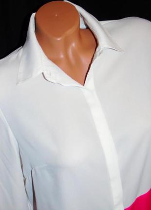 Шикарная двухцветная блуза - m - l5 фото