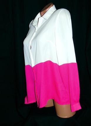 Шикарная двухцветная блуза - m - l2 фото