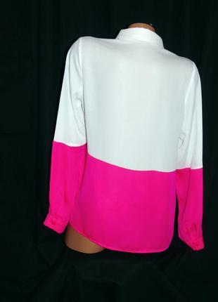 Шикарная двухцветная блуза - m - l3 фото