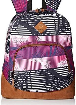 Рюкзак roxy тропический принт, фиолетовый