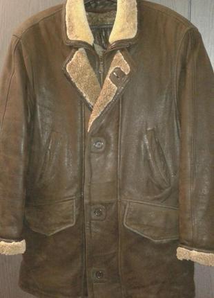 Стильная из натуральной кожи куртка - дубленка, турция, размер хl-xxl (50-52).