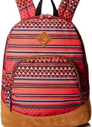 Рюкзак roxy этнический принт, персиковый, кораловый