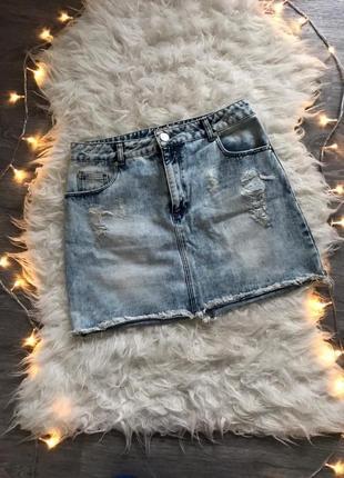 Шыкарная стильная джинсовая юбка 🖤miss selfridge🖤