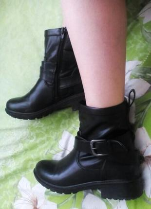 Классные ботинки полусапожки демисезон с качественной экокожи