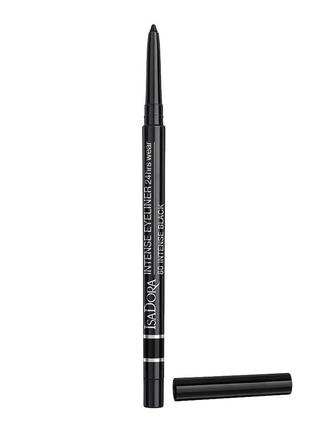 Isa dora автоматический карандаш для глаз стойкий intense eyeliner 24h wear