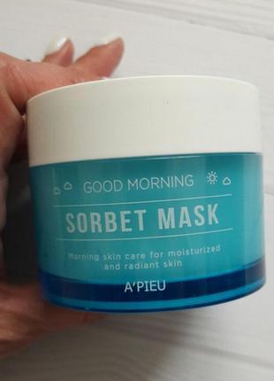 Утренняя увлажняющая маска-щербет для лица a'pieu good morning sorbet mask