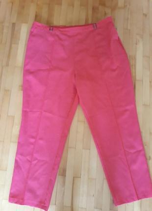 Літні брюки малинового кольору