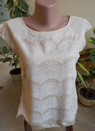 Ажурная блуза бренда oasis