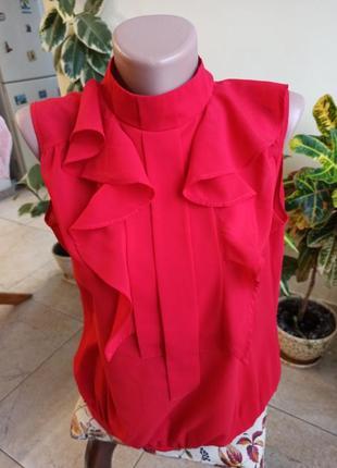 Красная блуза marks&spencer