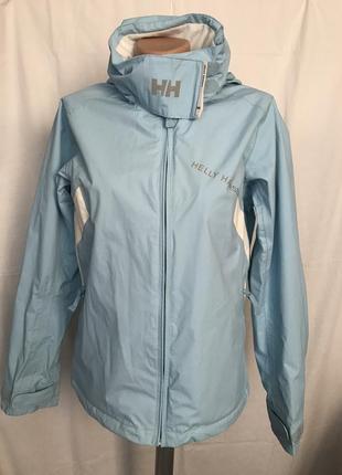 Куртка-ветровка голубая с капюшоном