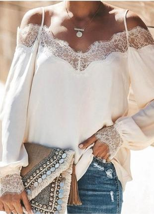 Ажурная блуза. гіпюр1 фото