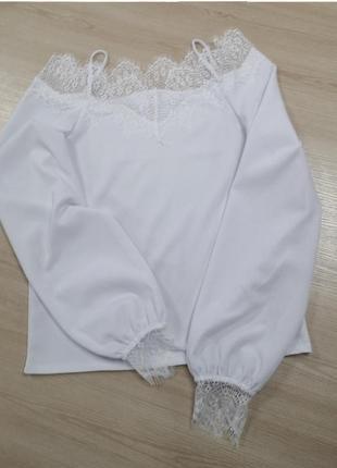 Ажурная блуза. гіпюр2 фото