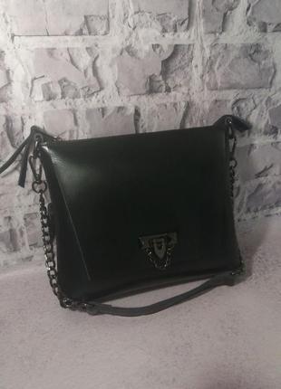 Женская кожаная сумка клатч из натуральной кожи. жіноча шкіряна