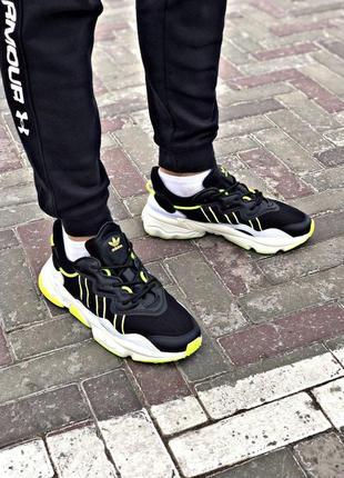 Adidas спортивные мужские кроссовки адидас в черном цвете (весна-лето-осень)😍