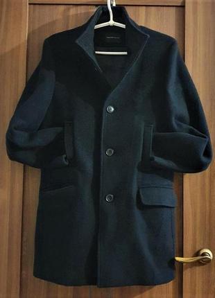 Полупальто мужское черное,шерсть 80%, selected/ homme, размер м