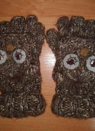 Милые перчатки-варежки
