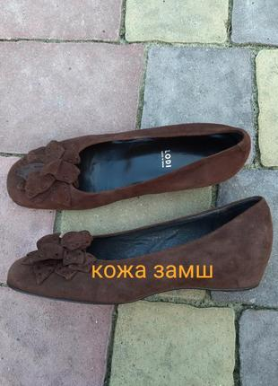 Новые туфли европа кожа замш