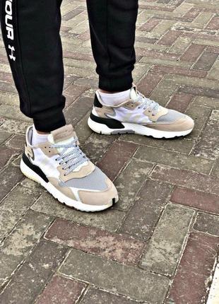 Шикарные мужские кроссовки adidas в сером цвете (весна-лето-осень)😍