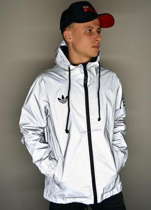 Рефлективная куртка на весну adidas yeezy y-3